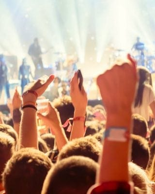 People enjoying Concert